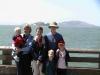 The family in San Francisco - Alcatraz in the background