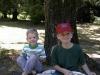 Jason & Julie hanging out after a picnic